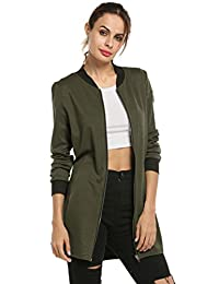 HOTOUCH Women's Winter Warm Coat Jacket with Zipper Army Green L