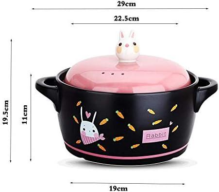 CUJUX Casserole en céramique de température for la Casserole isolée de Pot de Soupe de santé de Porridge