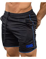 Men Shorts Casual,Haoricu Clearance Men's Sports Training Workout Summer Shorts Fitness Gym Short Pants with Pocket