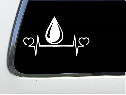 ThatLilCabin - Oil Drop lifeline heartbeat sticker 8 inch decal AS294