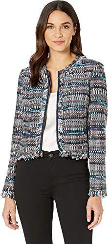 Juicy Couture Women's Multi Fringed Tweed Jacket Regal Dusty Terracotta 6