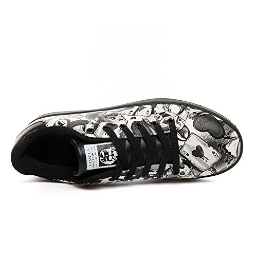Amazon.com | mrhippies Men Casual Shoes Spring Autumn Breathable Mens Flats Shoes Zapatillas Hombre Fashion Shoes Male Black | Shoes