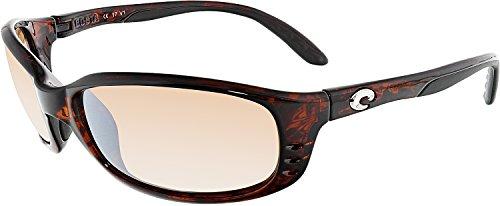 Costa Del Mar Brine Sunglasses BR 10 OSCP Tortoise/Silver Mirror - Silver Mar Costa Del Mirror
