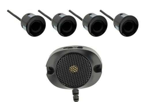 Vega R4S Einparkhilfe mit einem akustischen Signalgeber und inklusive 4 Sensoren in schwarz (a. akustischer Signalgeber, schwarz)