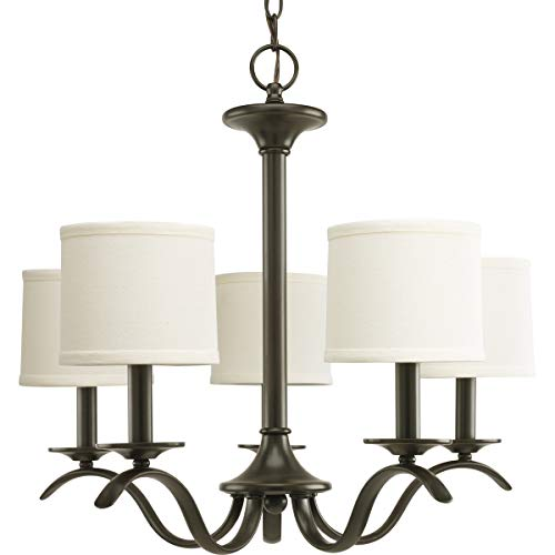 Progress Lighting P4635-20 Inspire Collection 5-Light Chandelier, Antique Bronze