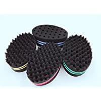 Hair Twist Black Ice Sponge For Afro Braid, Dreadlock Coils Curl Brushes(4 Packs)