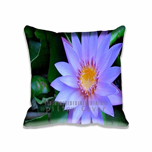 Viola North Cape Blue Water Lily Chair Seat Back Office Cushion Cover Cotton Polyester Throw Pillow Case Decorative Pillowcase Square Pillow Sham