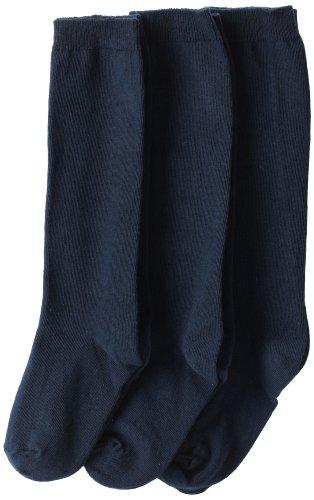 Jefferies Socks Little Girls'  School Uniform Knee High  (Pack of 3), Navy, Small