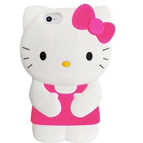 iPhone 7 Case, 3D Hello Kitty Soft Silicone Rubber Strong Protective iPhone 7 4.7