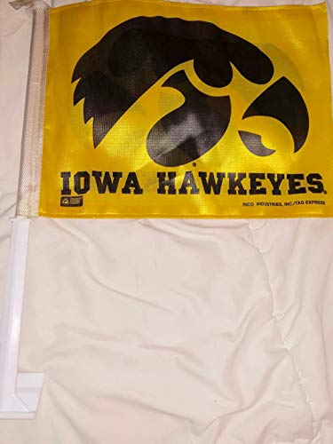 - RICO INDUSTRIES Vintage Iowa Hawkeyes CAR Flag 14
