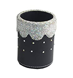 Pen Organizer Holder With Bling Rhinestones