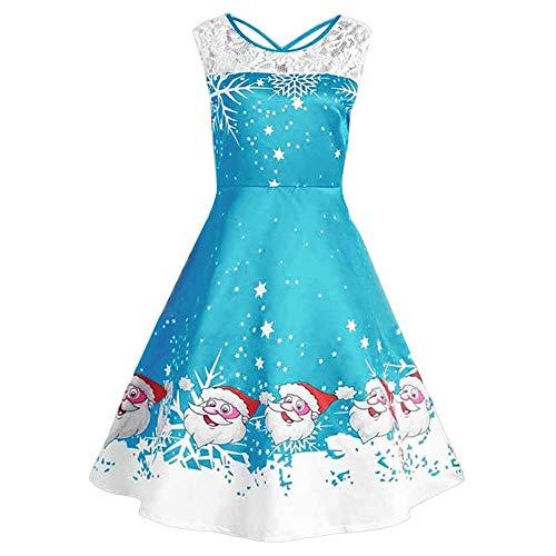 HTDBKDBK Women's Christmas Dresses, Women Christmas Print Sleeveless Criss Cross Black Party Swing Vintage Dress