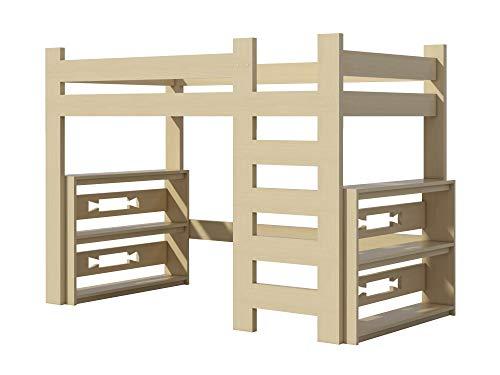 (Loft Bed Plans DIY For Kids College Dorm Woodworking Furniture Build Your Own)