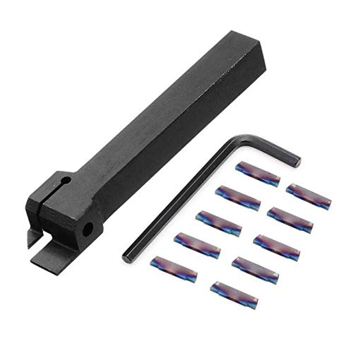 MGEHR1212 Parting Off Turning Tool Holder with 10pcs Blue Nano MGMN200 Carbide Inserts Drillpro 28829673306
