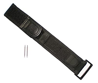 BLACK OUT EVO Wide Watch Band Nylon Velcro Navy Seals Fits Luminox 22/23 mm Series 3000/3900/3050/3080 by The X Bay
