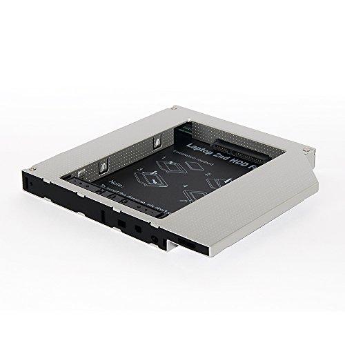 Taiyanggu Hard Drive Caddy Tray Universal 12.7mm SATA3 to SATA 2nd HDD Enclosure Hard Disk Case for HP DELL ACER BenQ Asus Lenovo Laptop CD / DVD-ROM Optical Bay Drive Slot for SSD (SATA to SATA) -