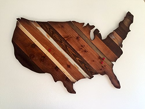 USA Map, Map of USA. American flag, America Silhouette,American flag sign wall art- Home/Restaurant decor, Urban, Rustic, Aged Wood, Abstract, Colorado Flag, Americana by Bowers Splinter Works