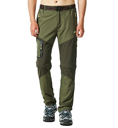 Mountain Pants Windproof Men Cargo Pants with Pockets Army Green