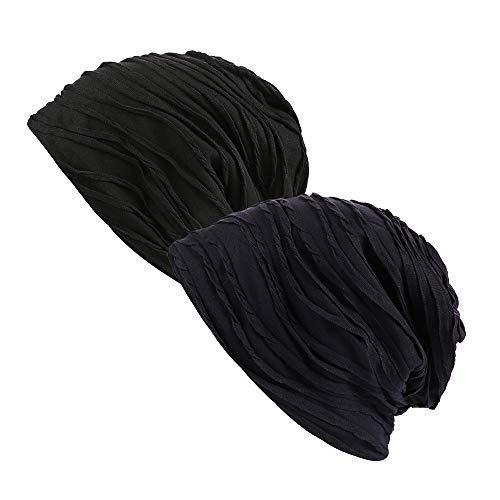 de Beanie 2pack Blue calavera funda Spring Slouchy de Gorra diseño gorro Fever Navy elegante black xAwqwPUt
