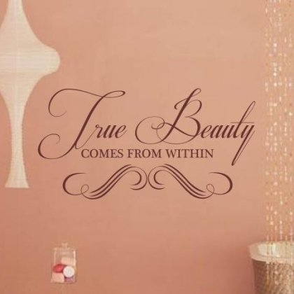 Sticker Bay True Beauty Comes From Within Wall Art Quote Dressing Room Decor Girls