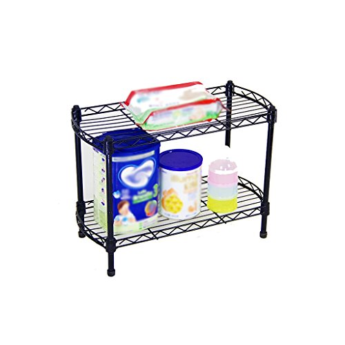 AJZGF Shelving Home Metal Economy Curved Kitchen Shelves Desk Trim Simple Modern Bedroom Shelves 40x20x32cm Shelf