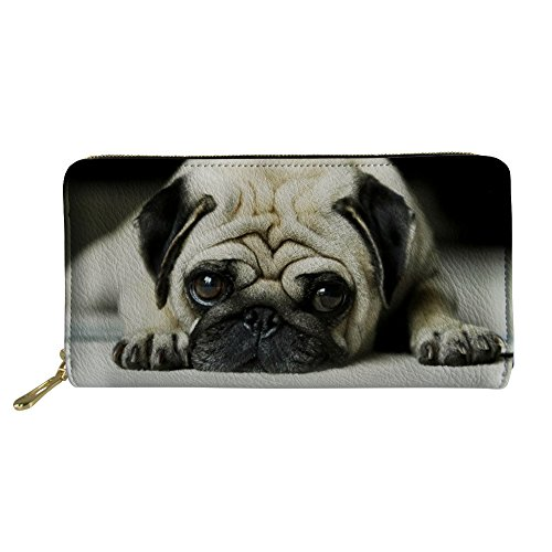 Nopersonality Westie Rosso Christmas Portafogli Pug Donna Print Large 1 rUrpn