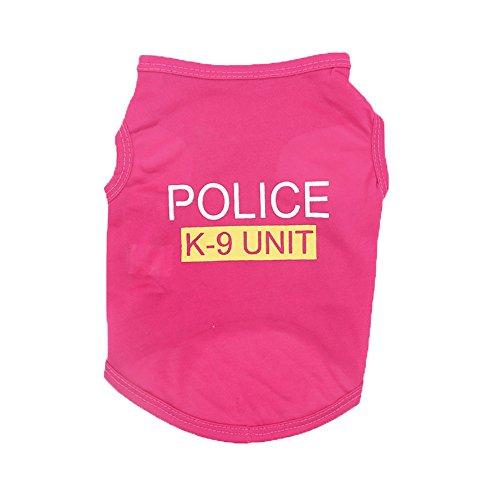 Farjing Pet Clothing,Unisex Pet Clothes Puppy Dog Cat Vest T Shirt Apparel (S,Hot Pink]()