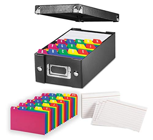 (Index Card Storage Box, Black, 3x5