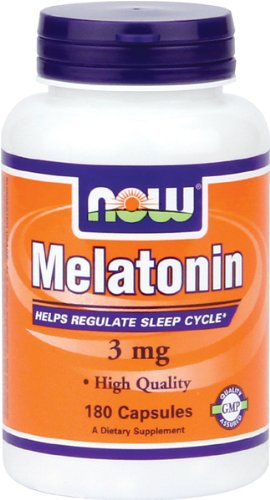 NOW Foods La mélatonine 3 mg, High Grade, 180 Capsules