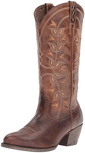 Ariat Women's Women's Desert Holly Western Cowboy Boot, Pearl, 9 B US