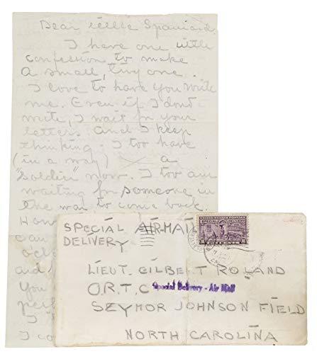 Transmittal Envelope - GRETA GARBO Personal Handwritten Letter to Gilbert Roland