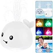 Learning Curve Whale Bath Toys, Electric Whale Water Spray Toy, Electric Induction Sprinkler Baby Light Up Bat