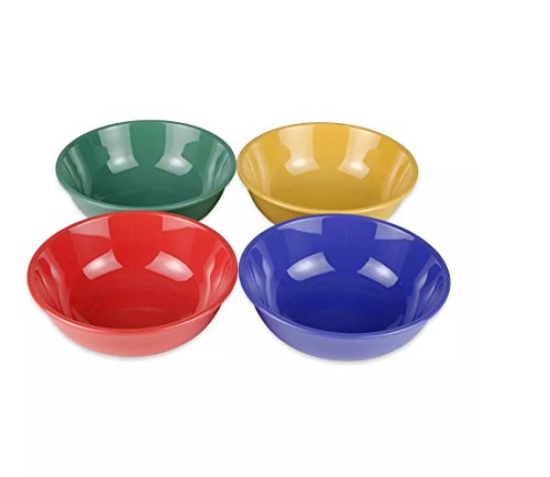 G.E.T. Enterprises B-24-MIX-EC Multi 24 oz. Melamine Bowls (Qty 4), Melamine, Mix Pack of Mardi Gras Colors (Pack of 4) ()