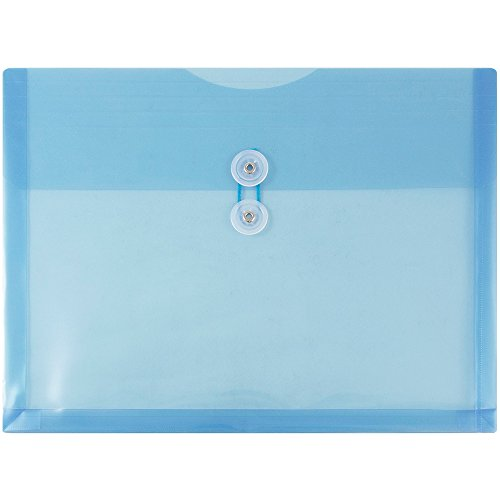 JAM Paper Plastic Envelope with Button and String Tie Closure - Letter Booklet - 9 3/4