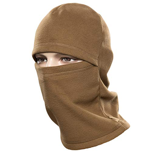 M-Tac Coldweather Face Mask Winter Tactical Heavyweight Balaclava Fleece Hood (Coyote Brown)