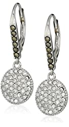 "Judith Jack ""Classics"" Sterling Silver/Swarovski Crystal Drop Earrings"