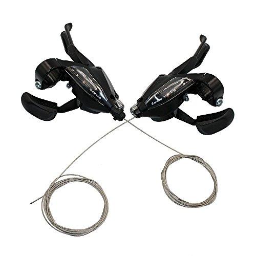 Shimano Shifter ST-EF500 3x8 Speed Shift/Brake Lever Combo Set 3-Finger with Inner Cables (Lever Brake Set Shifter)