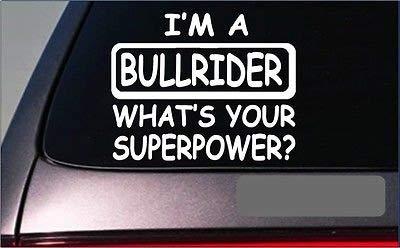 BrandVinyl Bullrider Superpower 8' Sticker Decal Cowboy Boots Bullriding - Cowboys Power Decal