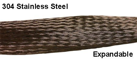 1.75'' Stainless Steel Braided Sleeving (304SS) - Length: 50 Feet by Electriduct (Image #3)