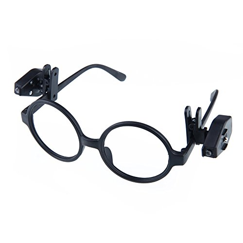 ️ Yu2d ❤️❤️ ️2PC Portable Clip On Eye Glasses Light Magnifier Reading LED Magnifying Glass]()