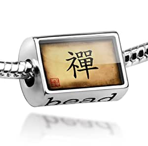"Beads ""Chinese characters, letter ""Zen"" - Pandora Charm & Bracelet Compatible"