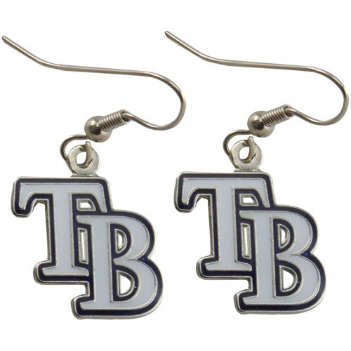 MLB Tampa Bay Rays Womens Team Logo Dangle Earrings