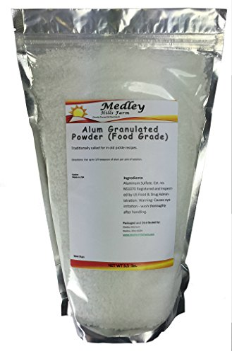 Medley Hills Farm Alum Granulated Powder (Food Grade) 3.5 lbs. (Medley Farm)