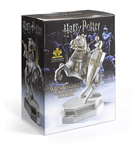 The Noble Collection Wizard Chess Knight Bookend - White