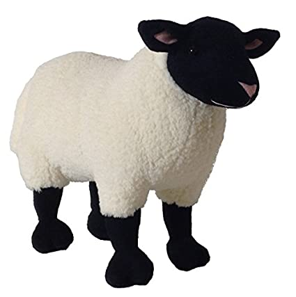 Amazon Com Adore 14 Standing Marshmallow The Suffolk Sheep Plush