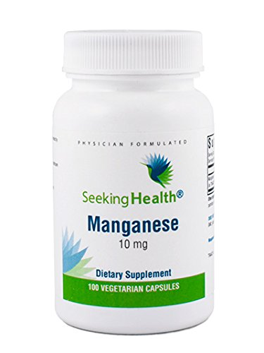 Manganese | 10 mg | 100 Vegetarian Capsules | Mineral Supplement | Free of Major Allergens | Seeking Health | Physician Formulated