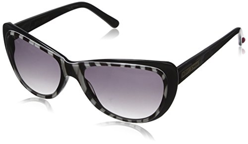 Betsey Johnson Women's Maya Cateye Sunglasses, Black Animal, 55 - Johnson Cat Eye Sunglasses Betsey