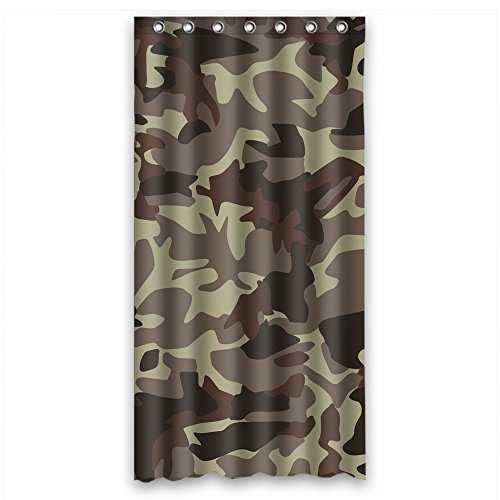MaSoyy Shower Curtains Of Camo Polyester Width X Height / 36 X 72 Inches / W H 90 By 180 Cm Best Fit For Him Birthday Valentine Father Wife. Machine Washable. Fabric