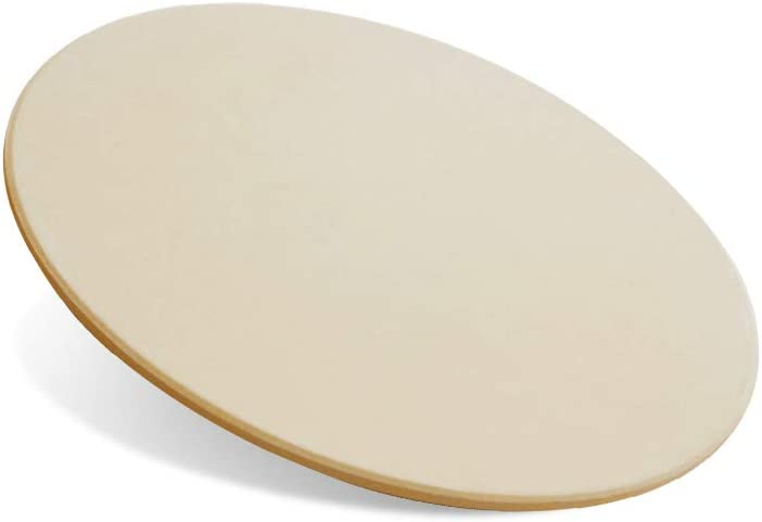 """Elly Décor Pizza Stone 16"""" Round Baking Stone for Bread Ceramic Pizza Grilling Stones for Cooking and Baking BBQ and Grill Pizza Stone for Oven"""