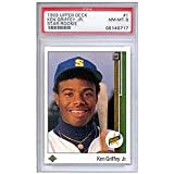 1989 Ken Griffey Jr. Upper Deck Baseball MLB Rookie Cards - Professionally Graded a PSA 8 (Cincinnatti Reds and Seattle Mariners)